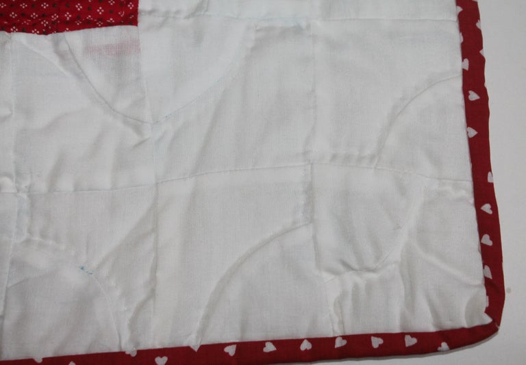 Country Antique Crib Quilt from Lancaster, PA For Sale