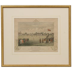 Antique Cricket Lithograph, 'the Pavilion at the Lord's Cricket Ground'