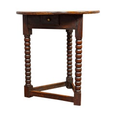 Antique Cricket Table, English, Elm, Lamp, Side, Victorian, circa 1890
