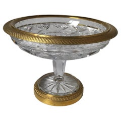 Antique Crystal Compote with Ormolu Mounts