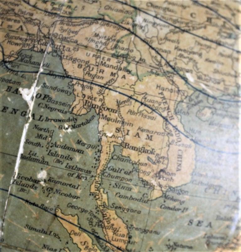 Antique C.S. Hammonds Terrestrial Desk Globe with Cast Iron Base & Frame For Sale 7