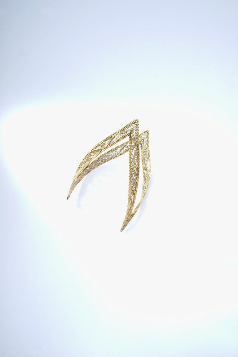 Victorian Antique Cuff Bracelet Yellow Gold For Sale