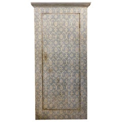 Antique Cupboard Door Placard, Painted Texture, 18th Century Florence 'Italy'