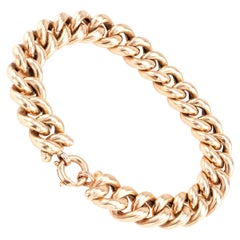 Antique Curb Link Gold Bracelet