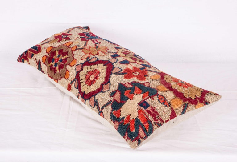 Antique Cushion or Pillow Case Fashioned from an Armenian Shusha Rug In Good Condition For Sale In Istanbul, TR