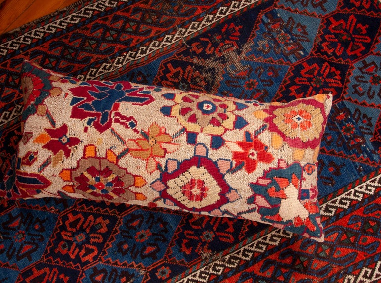 Antique Cushion or Pillow Case Fashioned from an Armenian Shusha Rug For Sale 1