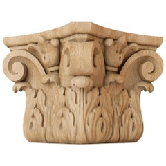 Antique Custom Made Carved Capital for Walls, Doors, Furniture, Interior