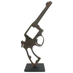 Antique Custom Mounted Dug Up Colt Revolver, circa 1930s