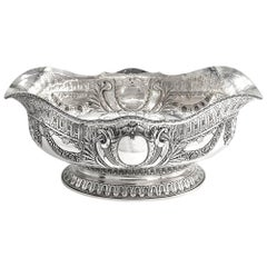 Antique Danish 20th Century Solid Silver Jardiniere Marks for a Dragsted