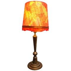 Antique Danish Brass Art Deco Table Lamp