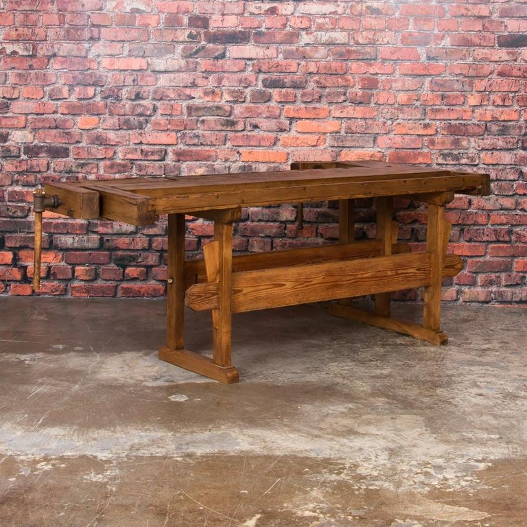 20th Century Antique Danish Carpenter's Workbench or Console Table For Sale