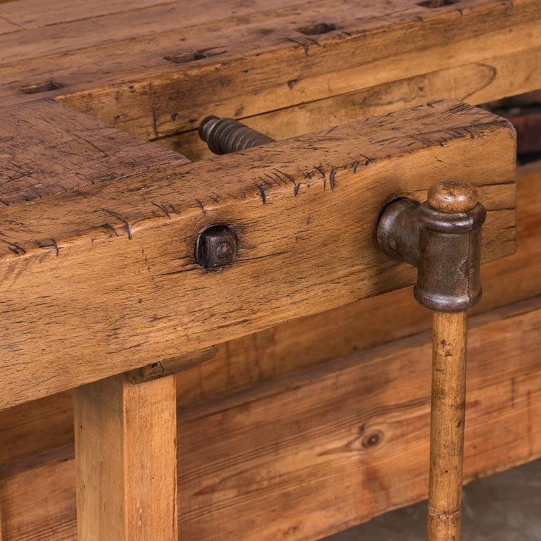 Antique Danish Carpenter's Workbench or Console Table For Sale 2