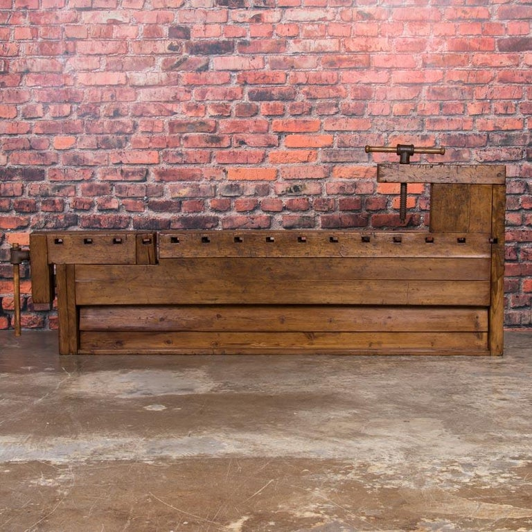 Antique Danish Carpenter's Workbench or Console Table For Sale 3