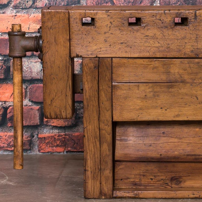 Antique Danish Carpenter's Workbench or Console Table For Sale 4