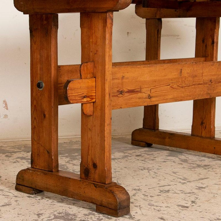 Antique Danish Carpenters Workbench Work Table For Sale 2