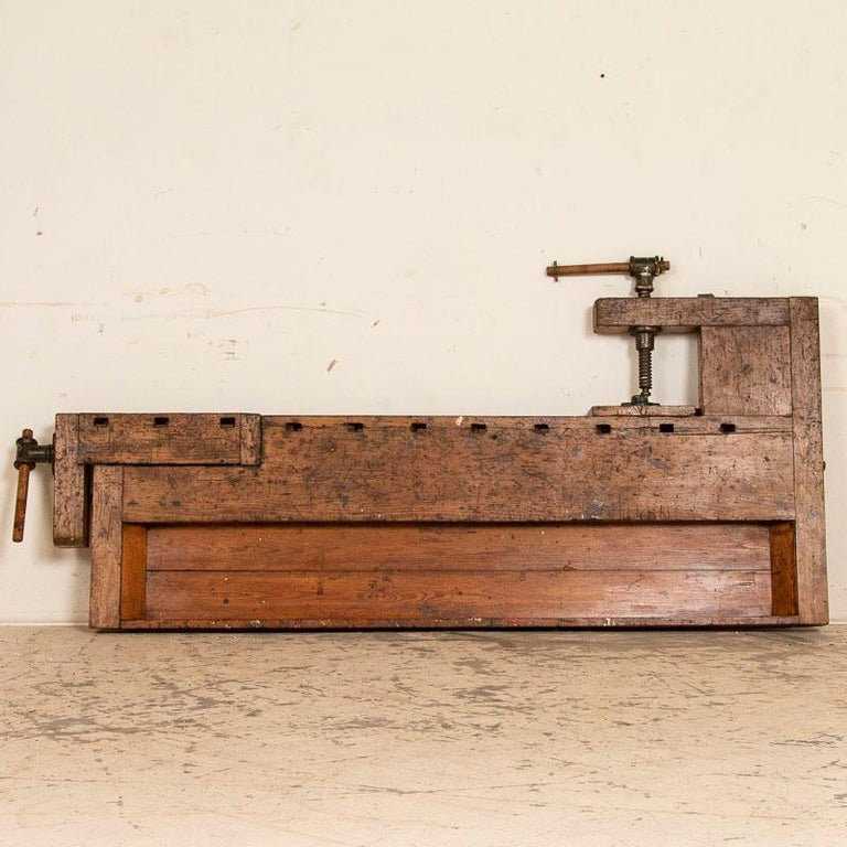 Antique Danish Carpenters Workbench Work Table For Sale 3