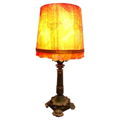 Antique Danish Cast Bronze Table Lamp