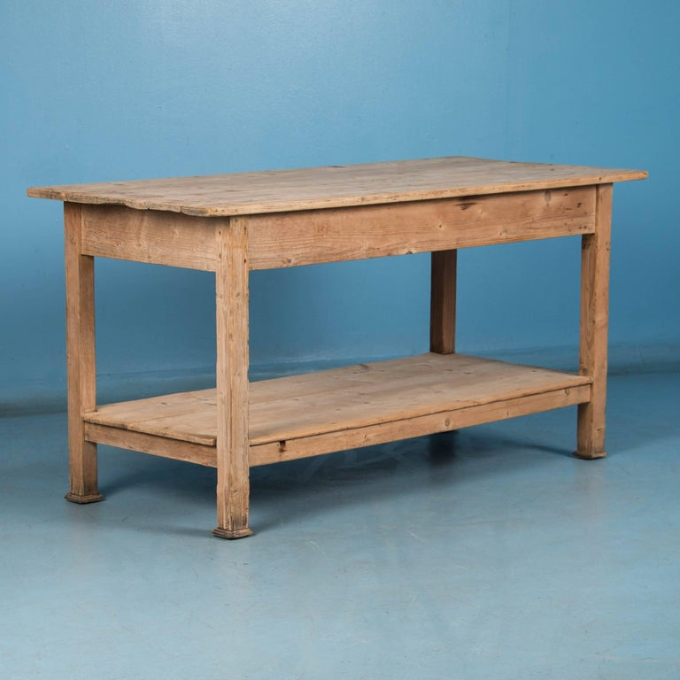 Antique Danish Pine Work Table Or Kitchen Island At 1stdibs