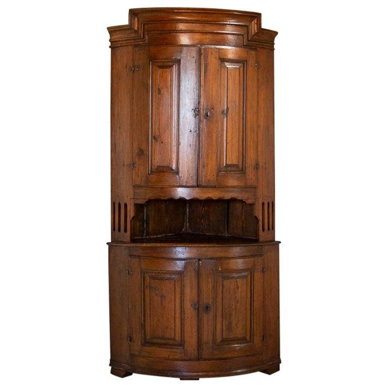Antique Danish Corner Cabinet Painted, Corner Cabinet Furniture