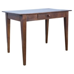 Antique Dark Pine Side or Small Writing Table