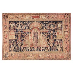 """Antique D'Art De Rambouillet Edition French Tapestry. Size: 9' 9"""" x 13' 10"""""""