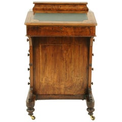 Antique Davenport Desk, Inlaid Burr Walnut Desk, Writing Desk, Victorian