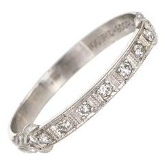 White Diamond Band Rings