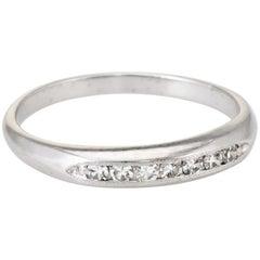 Antique Deco Diamond Wedding Band Ring Vintage 18 Karat Gold Estate Jewelry