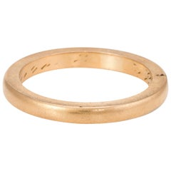 Antique Deco Wedding Band 18 Karat Yellow Gold Vintage Fine Jewelry Heirloom