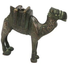 Antique Decorative Cast Bronze Camel Sculpture, 1920