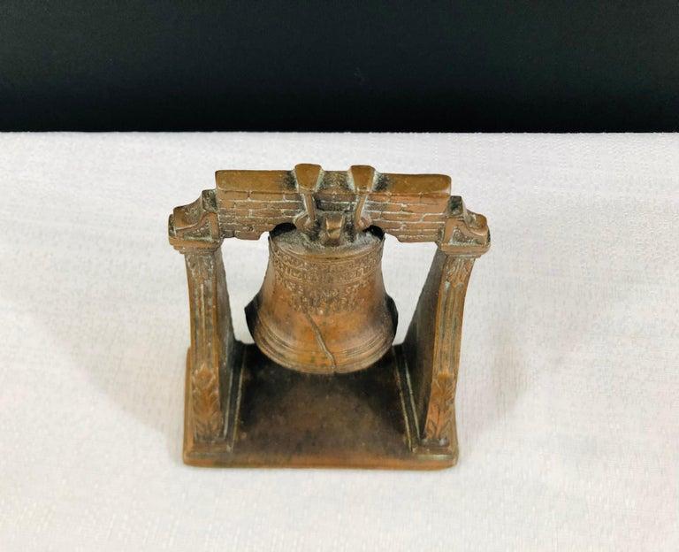 Medieval Antique Decorative Cast Bronze Mission Bell Sculpture, a Pair For Sale