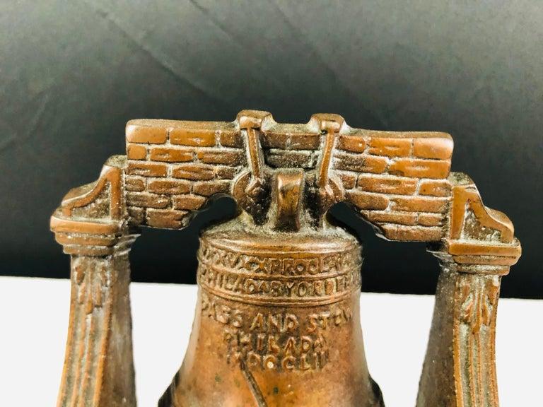 Antique Decorative Cast Bronze Mission Bell Sculpture, a Pair For Sale 1