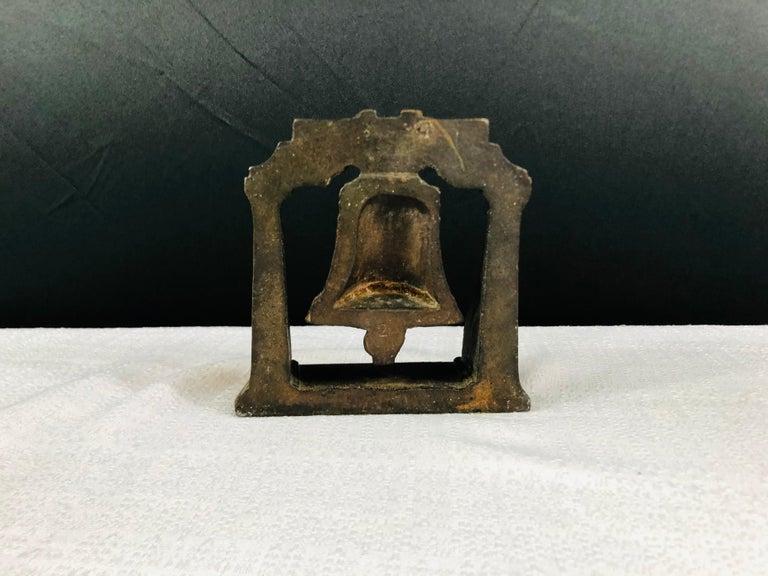 Antique Decorative Cast Bronze Mission Bell Sculpture, a Pair For Sale 2