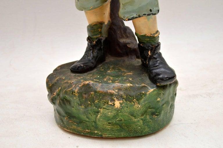 Antique Decorative Chalk Ware Figure of a Boy  For Sale 5