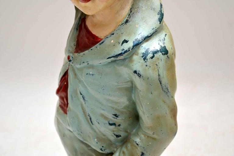 Antique Decorative Chalk Ware Figure of a Boy  For Sale 1