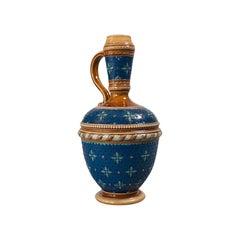 Antique Decorative Ewer, German, Ceramic, Serving Flask, Liqueur Bottle