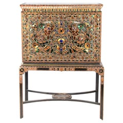 Antique Decorative Indian Cabinet on Stand