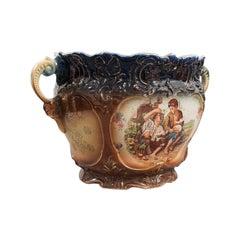 Antique Decorative Planter, English, Ceramic, Jardiniere, Bowl, Edwardian, 1910