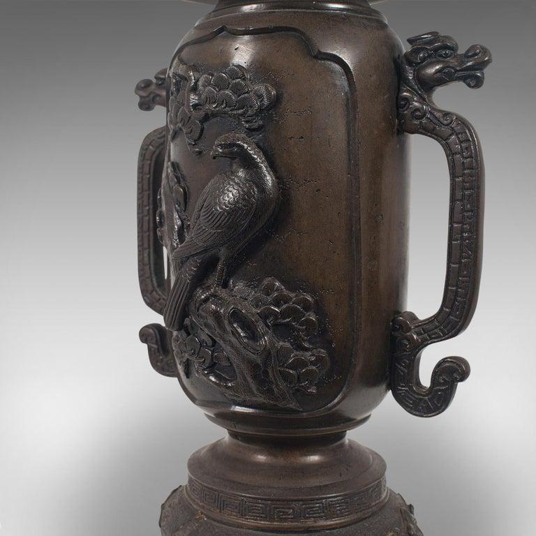 Decorative Vase, Japanese, Bronze, Meiji Period, Late 19th Century, circa 1900 For Sale 7