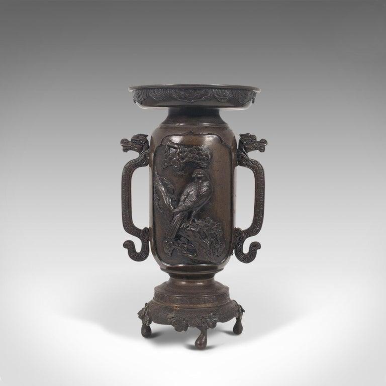 Decorative Vase, Japanese, Bronze, Meiji Period, Late 19th Century, circa 1900 For Sale 3