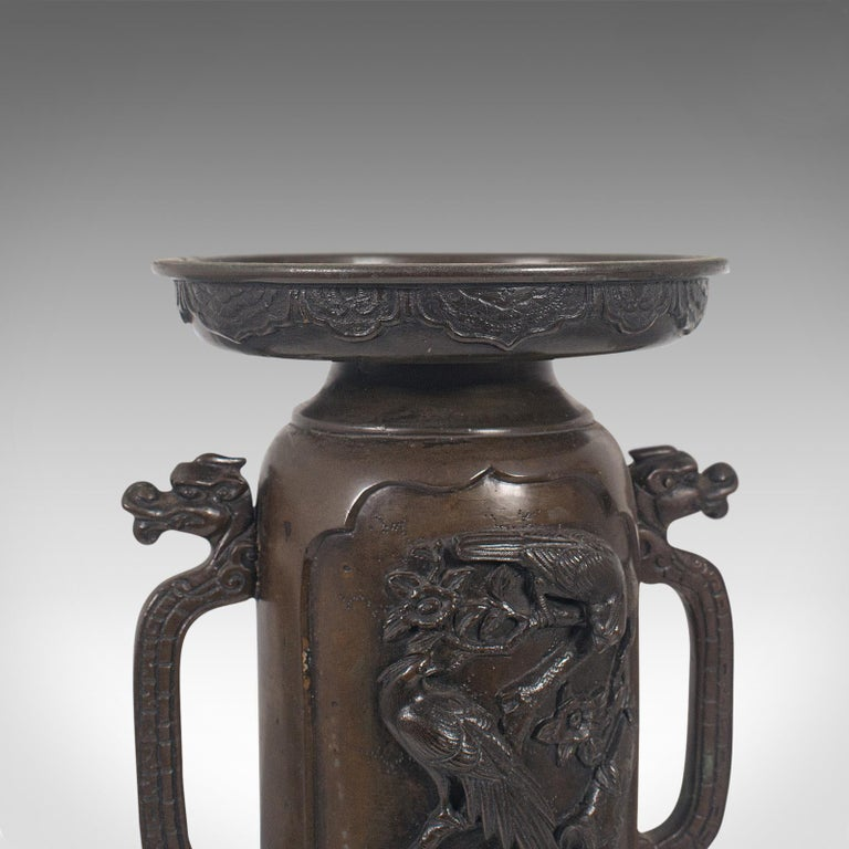 Decorative Vase, Japanese, Bronze, Meiji Period, Late 19th Century, circa 1900 For Sale 5