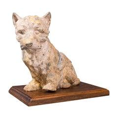 Antique Decorative West Highland Terrier, British, Westie Dog, Edwardian, C.1910