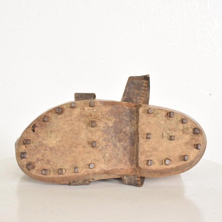 Anglo-Japanese Antique Decorative Wood Gardening Shoes Japanese Asian