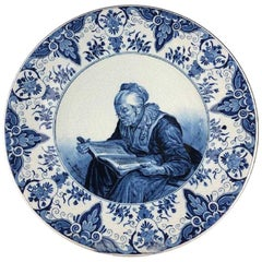 Antique Delft Porcelain Charger, Holland