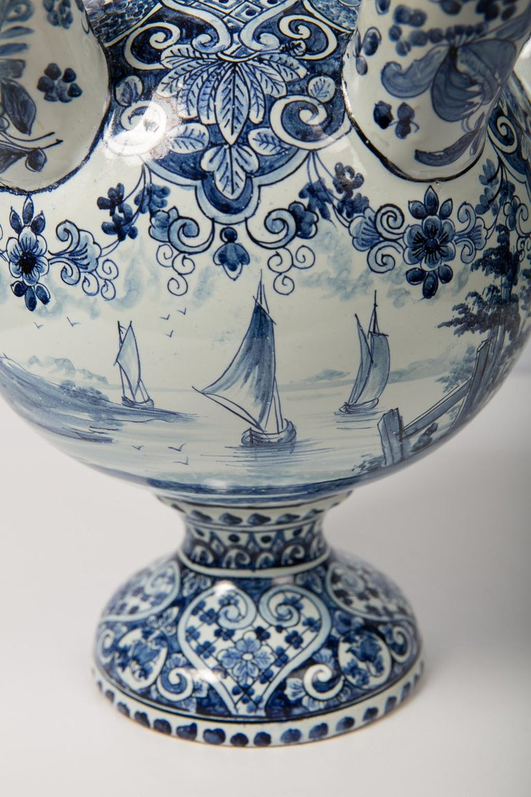 Antique Delft Tulipiere Blue And White Tulip Holder At 1stdibs