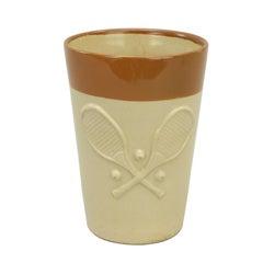 Antique Denby Pottery Tennis Lemonade Beaker