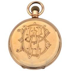 Antique Dennison Case Full Hunter Royal A.W.W. Co. Waltham Mass Pocket Watch