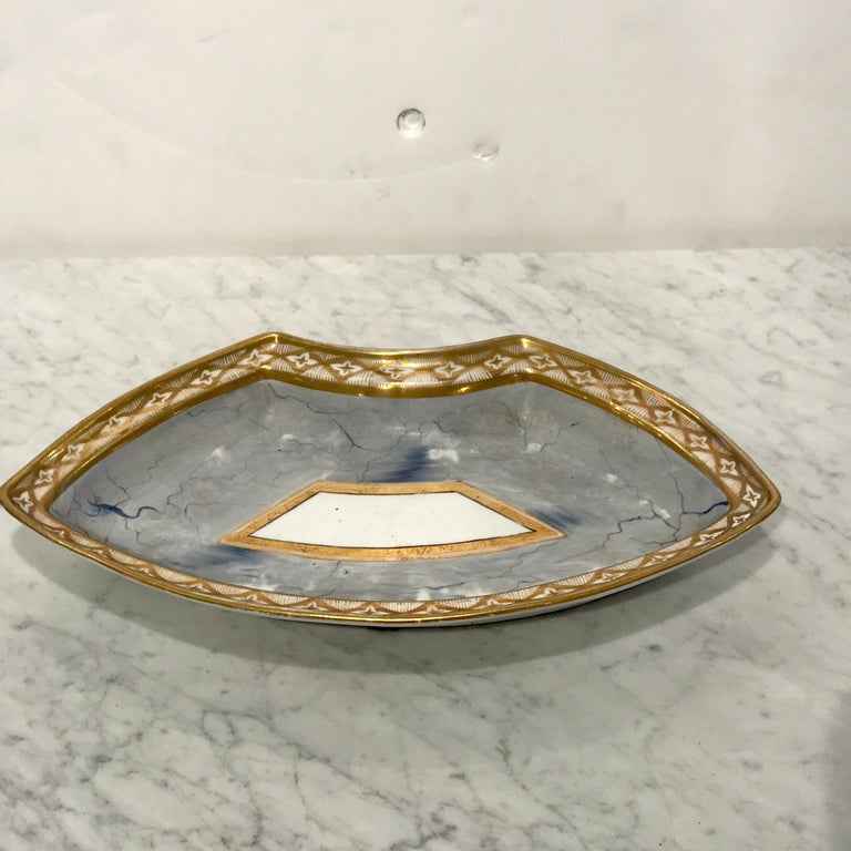 Antique Derby Marbleized Supper Set on Georgian Mahogany Tray For Sale 8