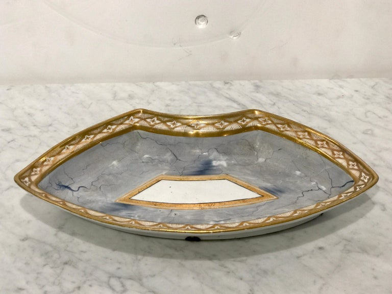 Antique Derby Marbleized Supper Set on Georgian Mahogany Tray For Sale 9