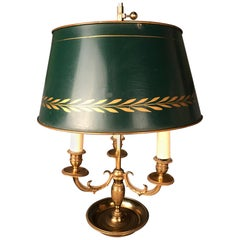 Antique Desk Lamp / Table Lamp Empire circa 1900, Gold-Plated Bronze